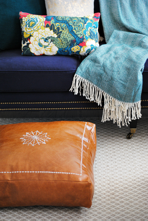 Diy Moroccan Leather Pouf The Chronicles Home