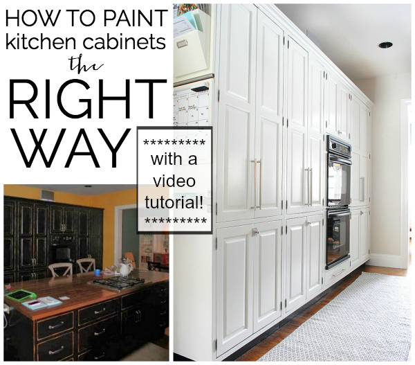 How To Refinish Kitchen Cabinets Yourself: {Video Tutorial} How To Paint Kitchen Cabinets