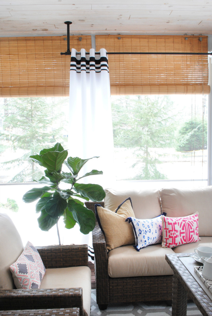 Diy Striped Outdoor Curtains The Chronicles Of Home