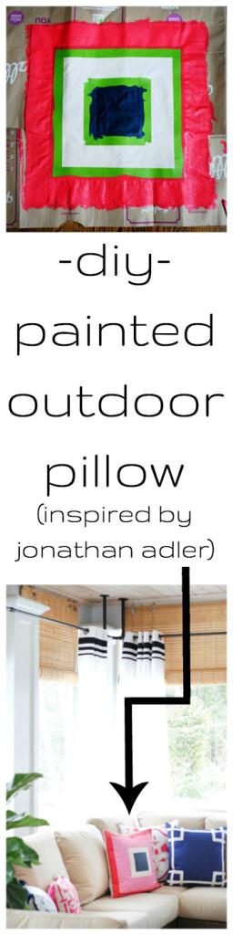 diy jonathan adler colorblocked pillow