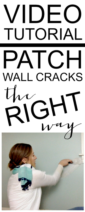 how to patch cracks in a wall