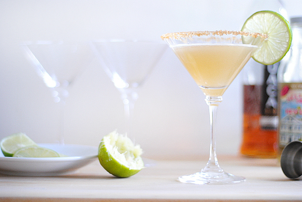 A sweet-tart key lime martini - simple to make and totally delicious!