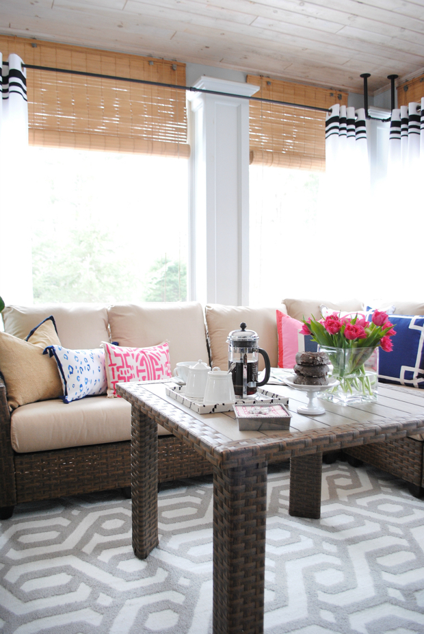 Navy And Pink Screened Porch02
