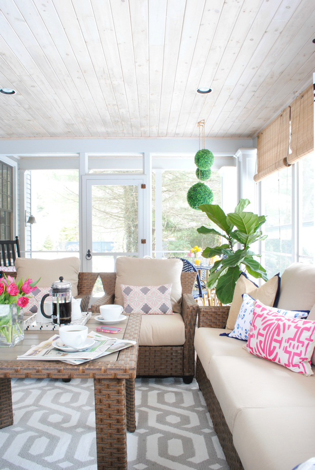 navy and pink screened porch10