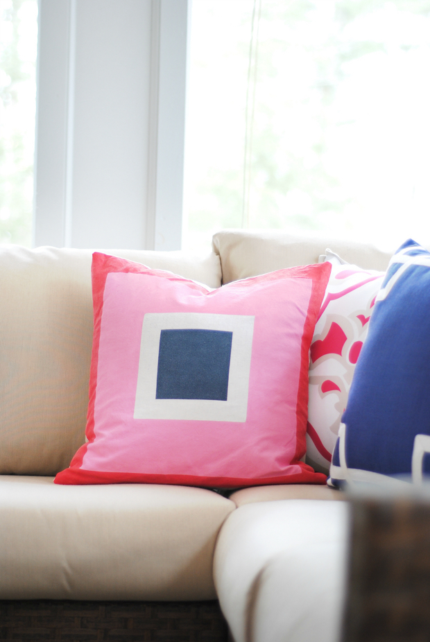 DIY Colorblocked Pillow - Jonathan Adler Inspired - The Chronicles ...