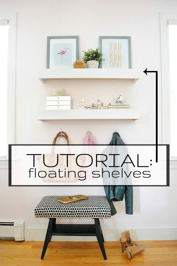 Tutorial for building super easy floating shelves!
