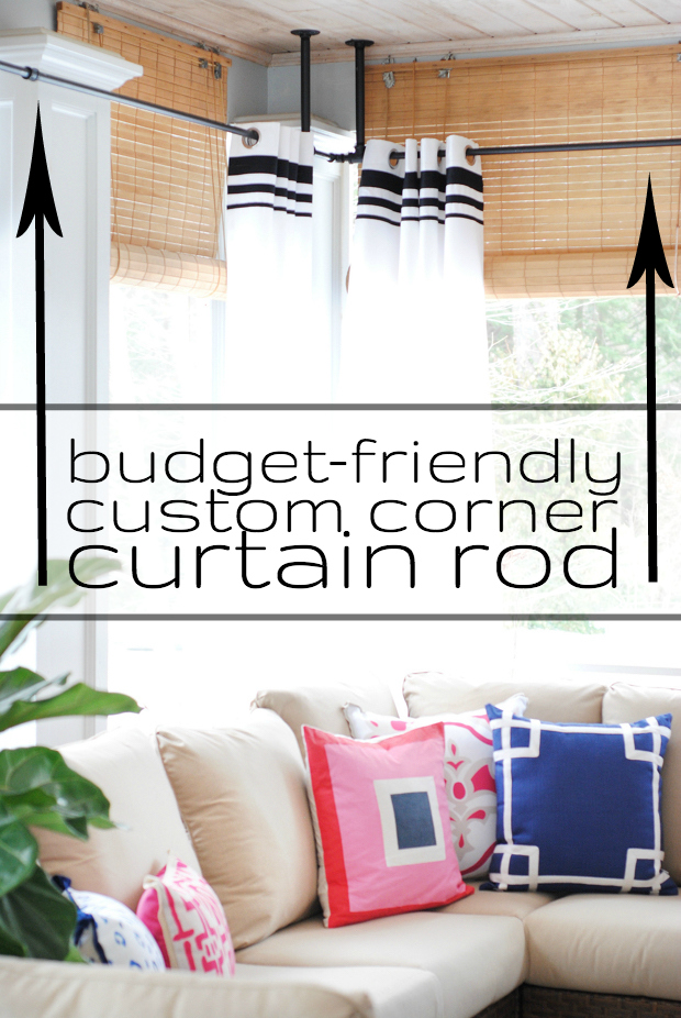 How to make a custom corner curtain rod for less!
