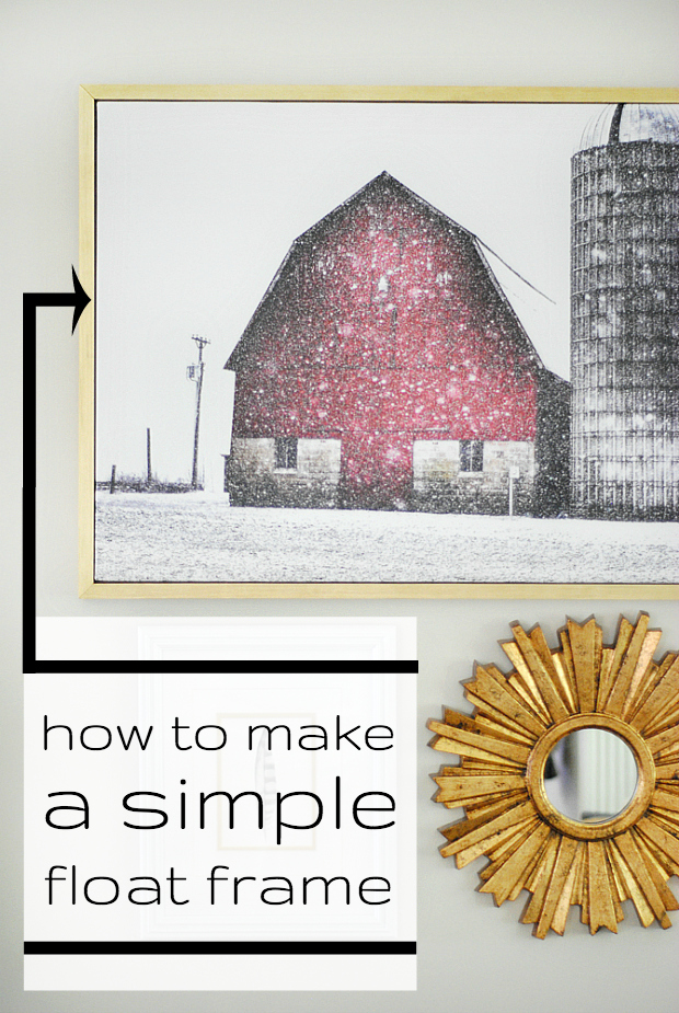 how to make a simple float frame for canvas art