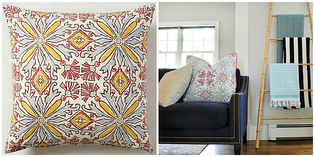 Make a custom patterned pillow with a Sharpie and fabric dye