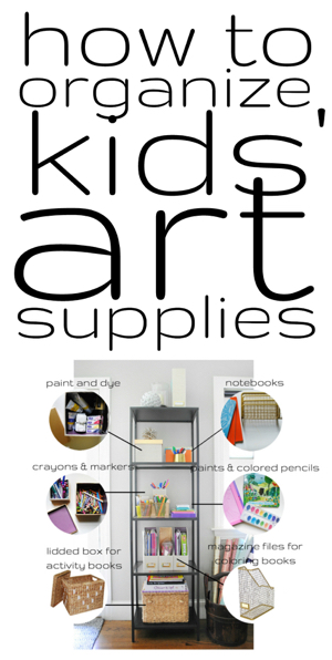 How to organize kids' art supplies right out in the open