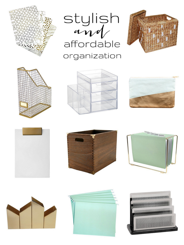 Stylish and affordable organization