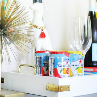 {DIY} Lacquered Tray with Brass Accents