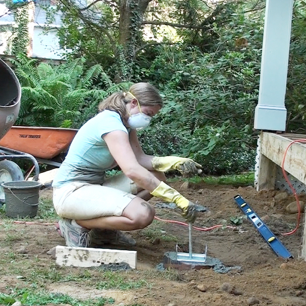 Video how to build a diy deck concrete footings the First step to building a house