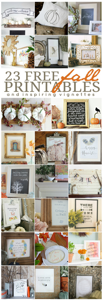 Twenty-three FREE printables and inspiring vignettes to show you how to use them in your home!