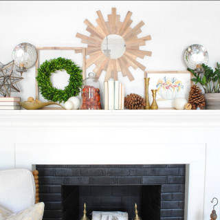 Fall Mantle with Free Cinderella Pumpkin Printable