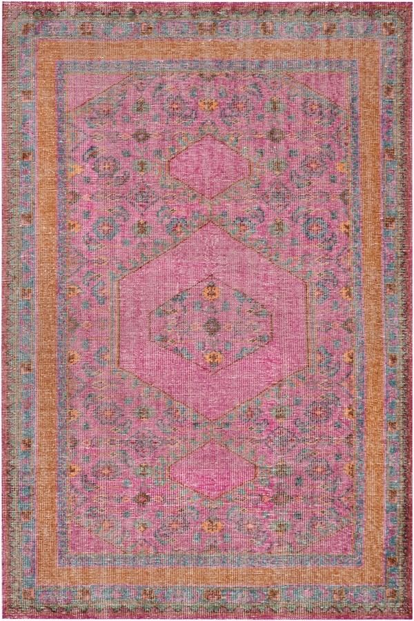 rug pink orange