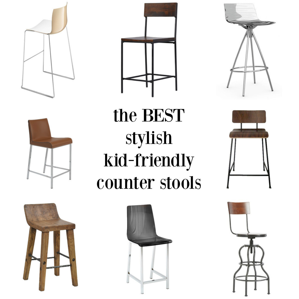 The best stylish kid friendly barstools - wipeable and with backs!