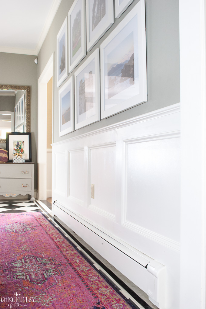 An easy-to-follow tutorial for how to install real wainscoting yourself and save a bundle over hiring the work out!