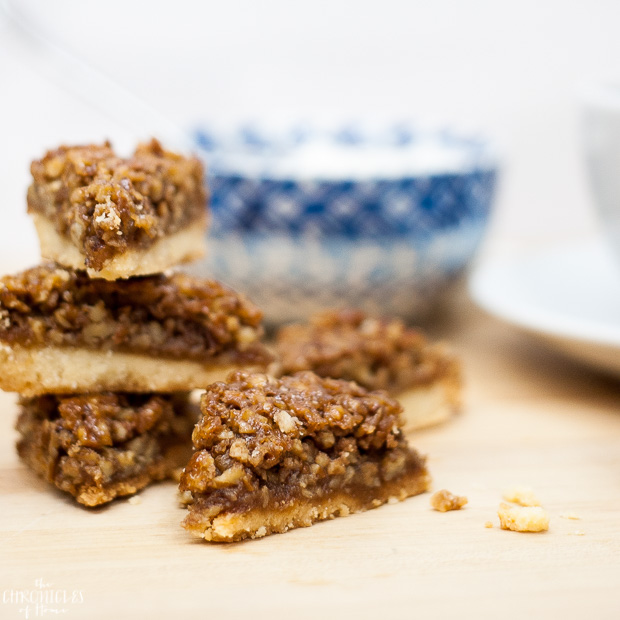 The best pecan squares - rich, buttery, delicious, and a cinch to make!