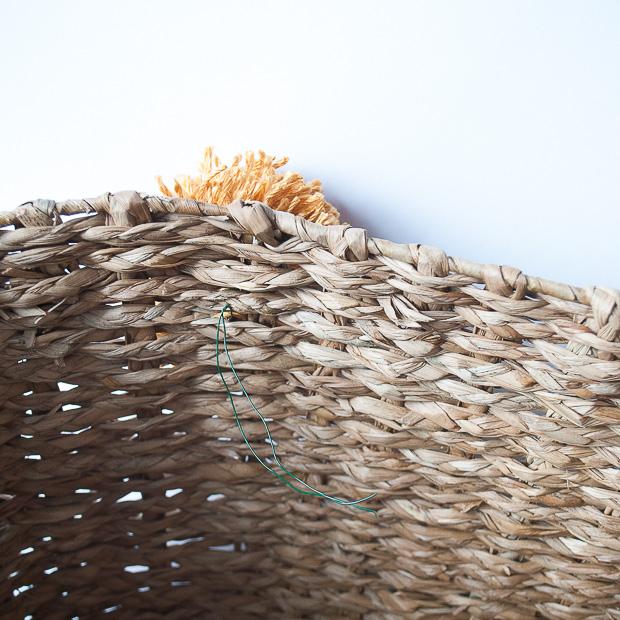 DIY pom pom basket-4