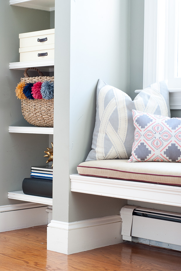DIY designer-inspired pom pom baskets for a quarter of the cost! Such an easy, chic upgrade to plain baskets.