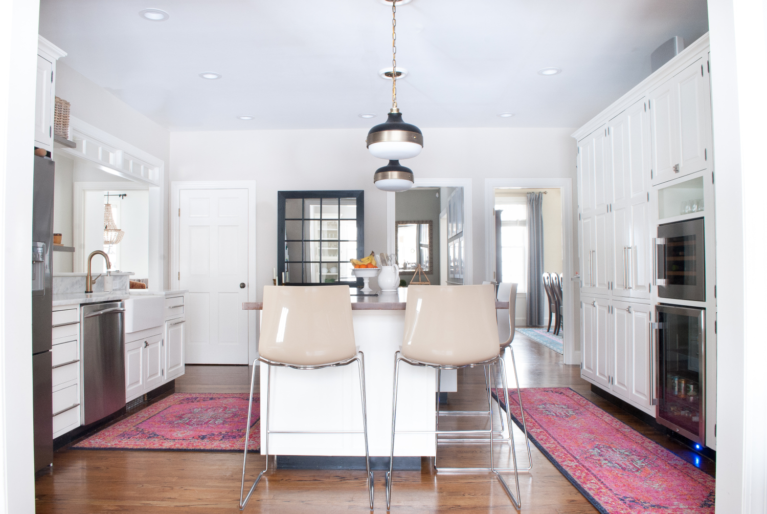 Get The Look Of A Vibrant Vintage Rug In Kitchen Without Price Tag