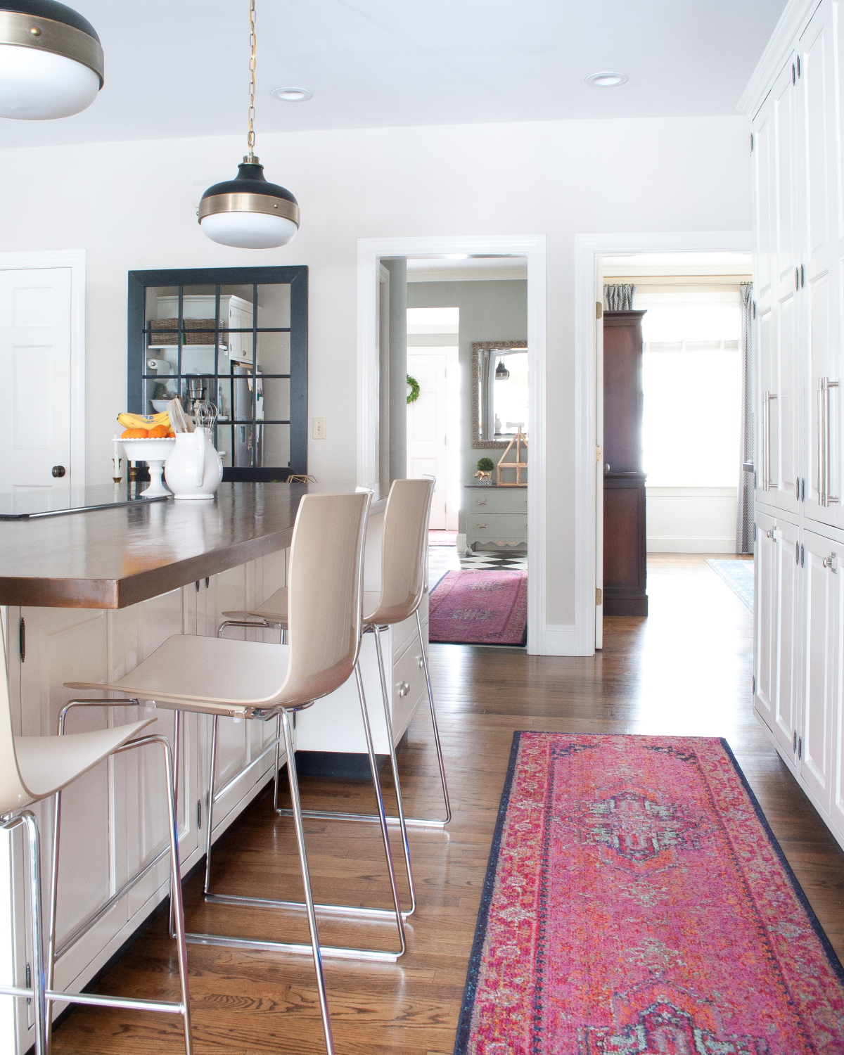 Get The Look Of A Vibrant Vintage Rug In The Kitchen Without The Price Tag,