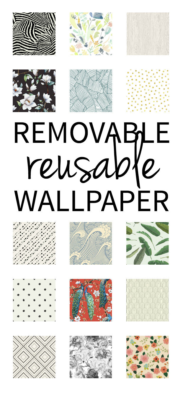 Removable wallpaper that can be reused again and again!