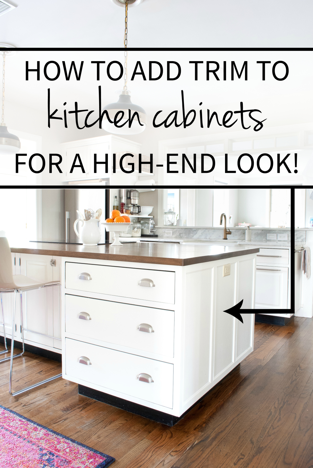 how to add a kitchen island how to add detail to a plain kitchen island the chronicles of home 8650