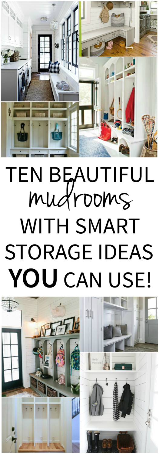 Ten stylish, classic mudrooms with smart storage ideas that you can use in your own home!