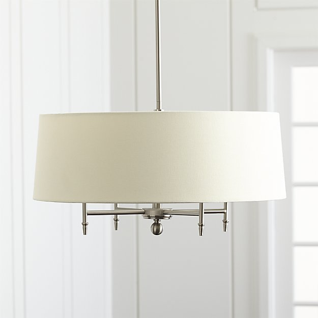 Drum shade chandelier sources the chronicles of home classic elegant lighting drum shade chandelier pendants priced on a budget aloadofball Image collections