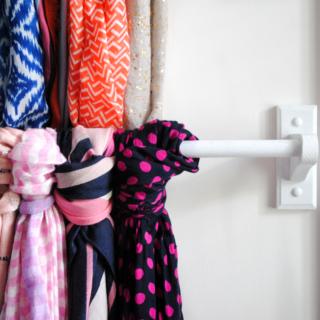 Scarf Hanger {Closet Organization Ideas}