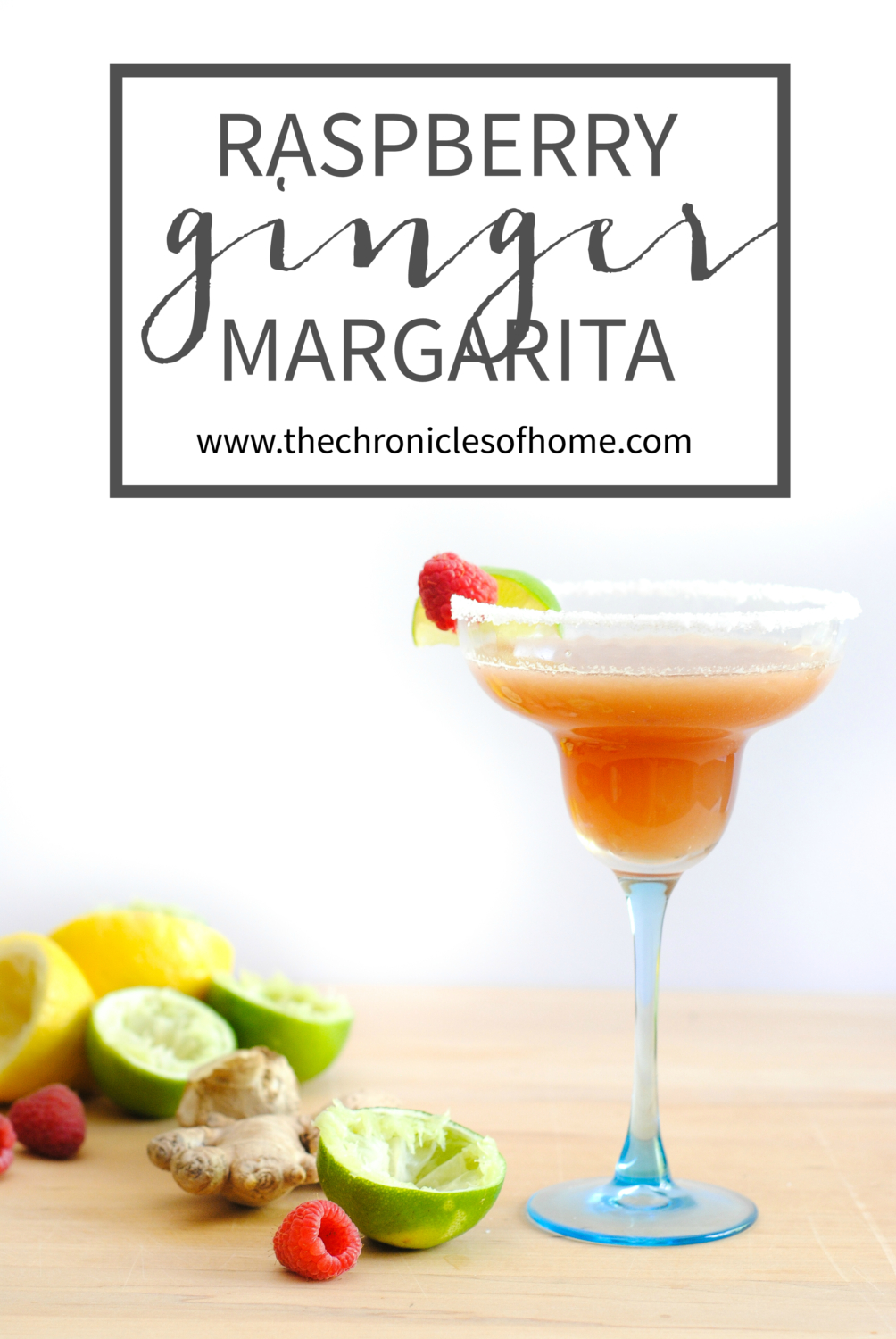Raspberry ginger margarita - a subtly spicy twist on a classic margarita. You'll never go back to bottled mix once you taste this!
