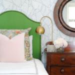 DIY green upholstered headboard-3