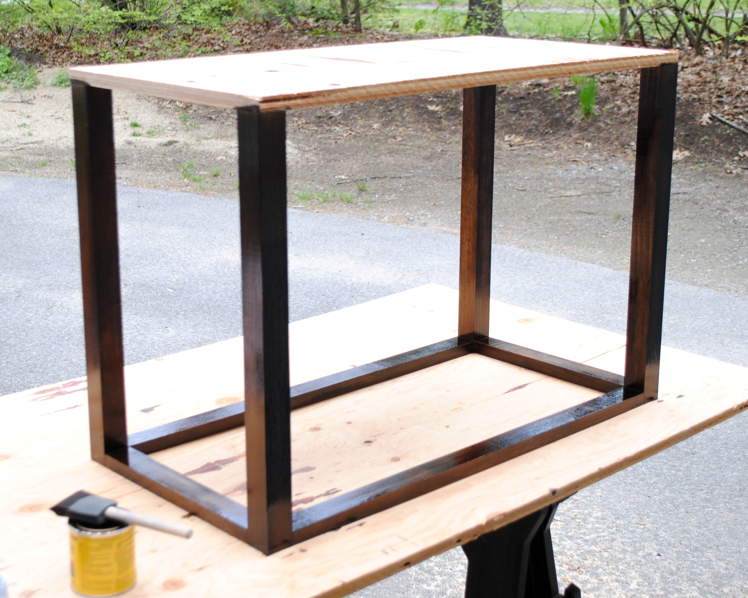 DIY Bedroom Bench with Leather Upholstery - The Chronicles ...