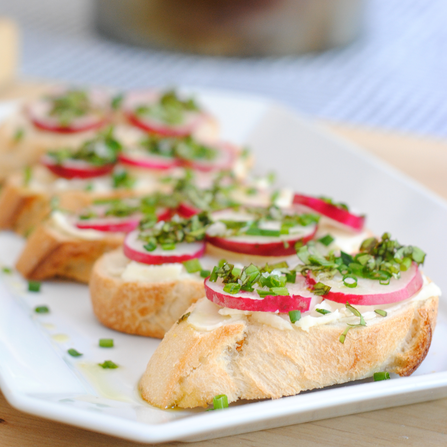 Herbed radish crostini - an easy, elegant, very French appetizer!