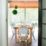 metal bentwood chairs DIY outdoor table Restoration Hardware-1