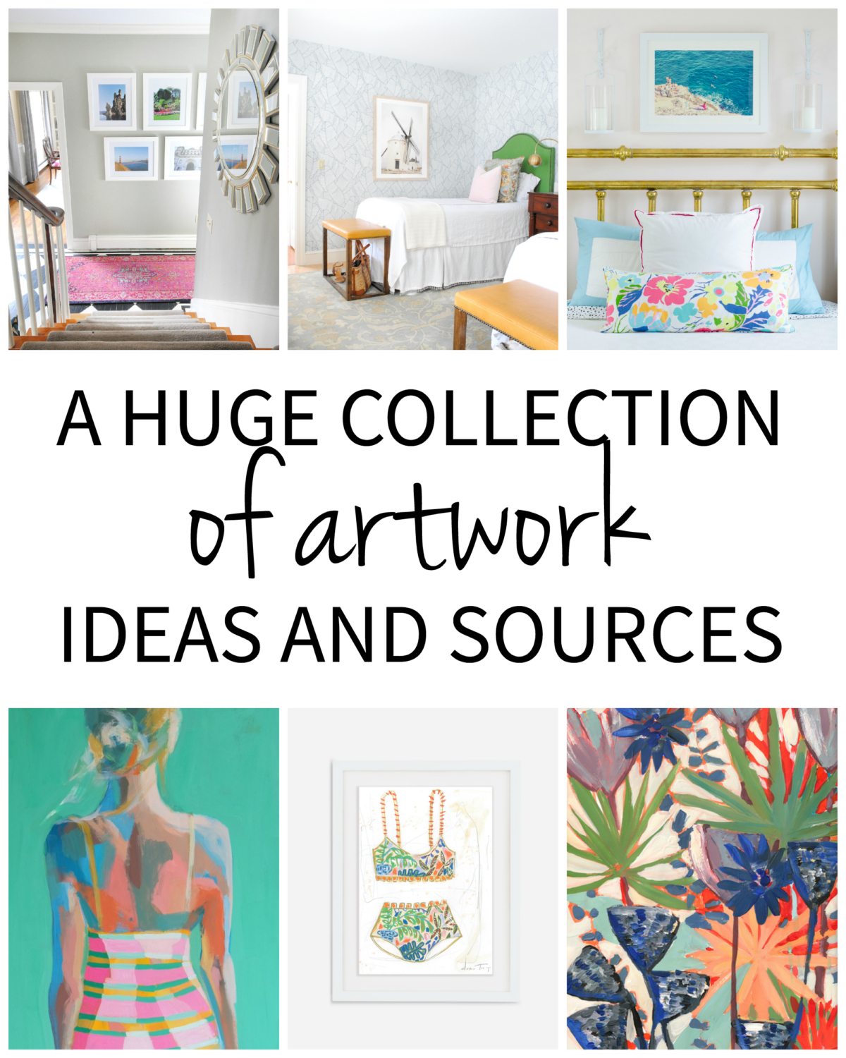 A huge collection of artwork sources with DIY ideas and ready to purchase pieces for every budget!