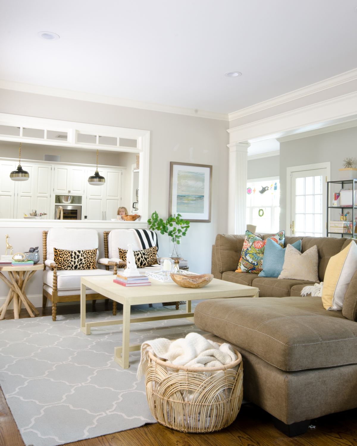 Cozy, pretty family room