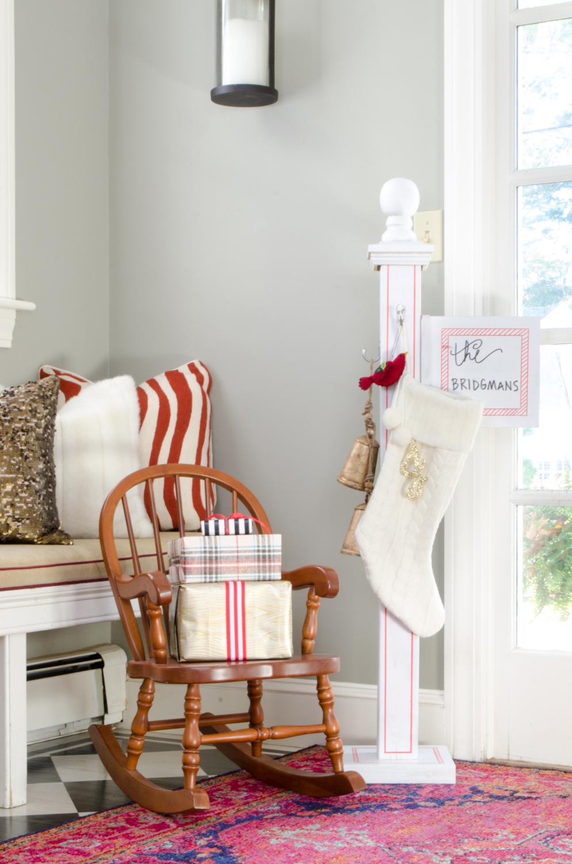DIY Christmas Stocking Post - The Chronicles of Home