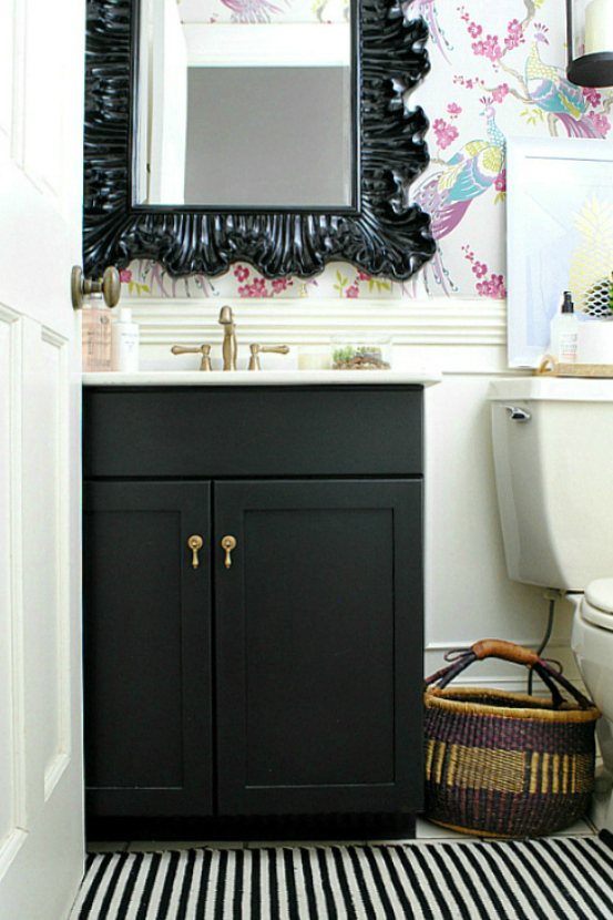 Powder Room Makeover small powder room makeover - the chronicles of home