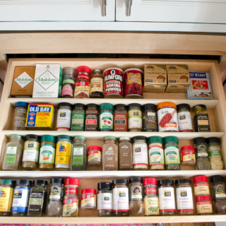 Organize Spice Jars in Thirty Minutes!