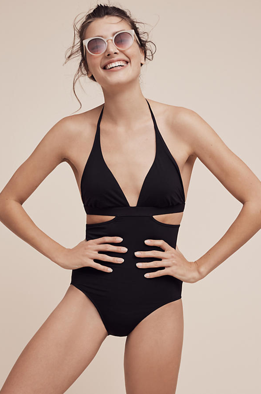 Black Cut-out Swimsuit