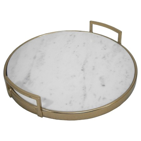Marble and brass tray