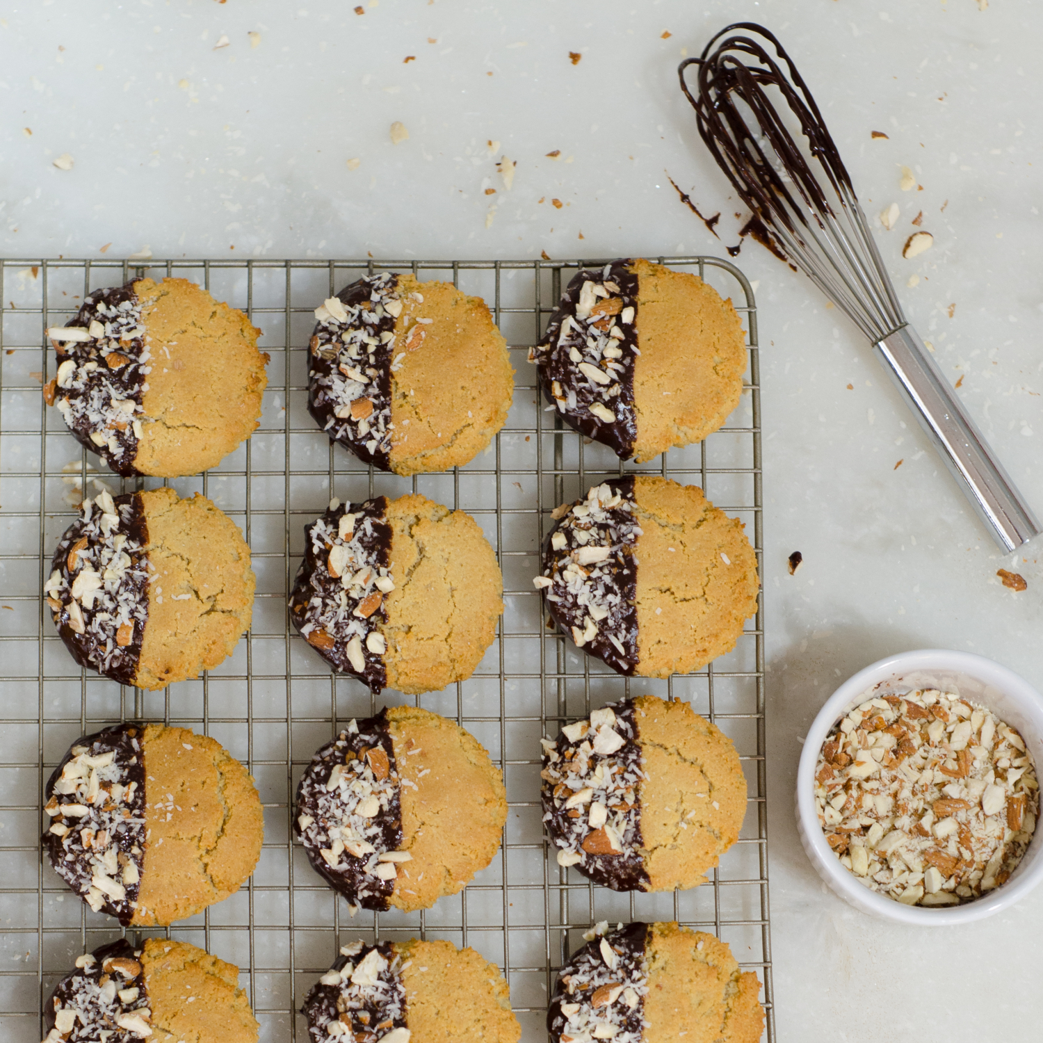 A paleo cookie recipe so delicious you'll forget you're eating healthy! Almond, coconut, and chocolate cookies for those looking for a healthy cookie recipe or just a little something sweet and tasty!