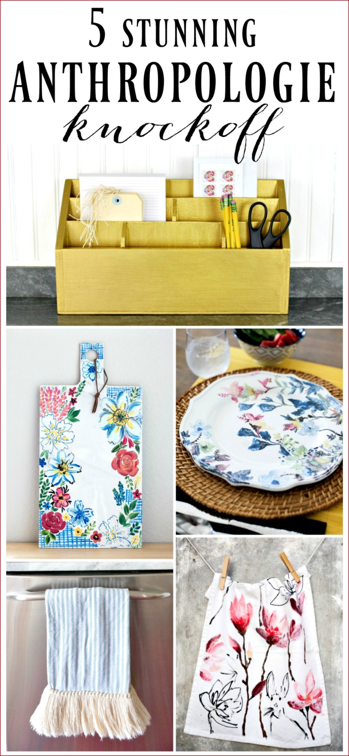 Five awesome Anthropologie knockoff projects for the kitchen!