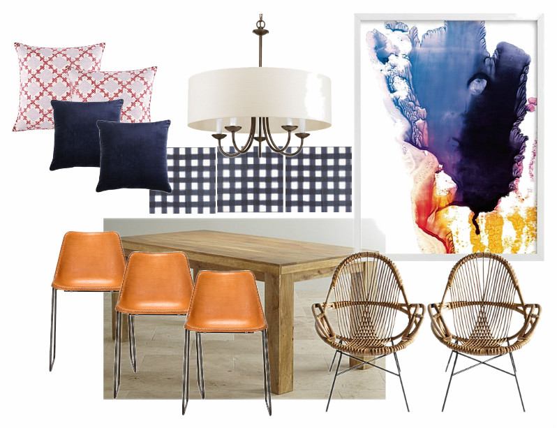 Breakfast nook makeover plans with a modern, boho feel