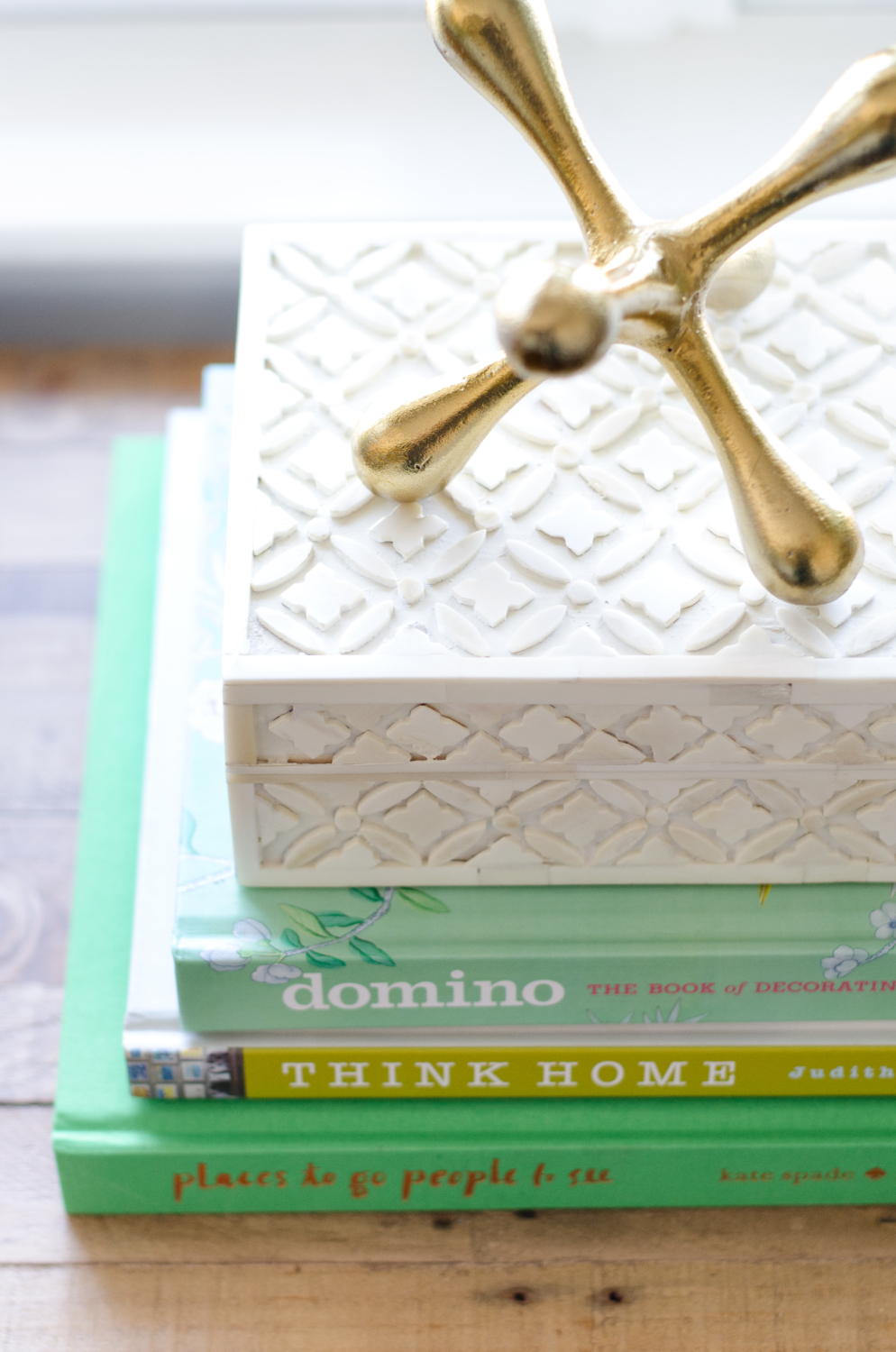 Styling tip - color group coffee table books for added impact