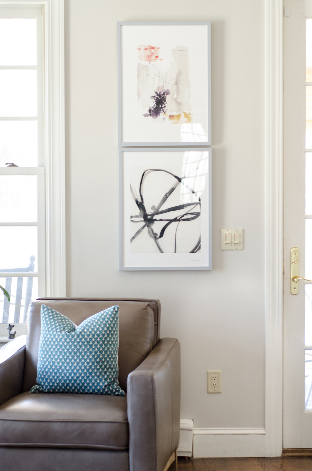 Custom framed abstract art prints