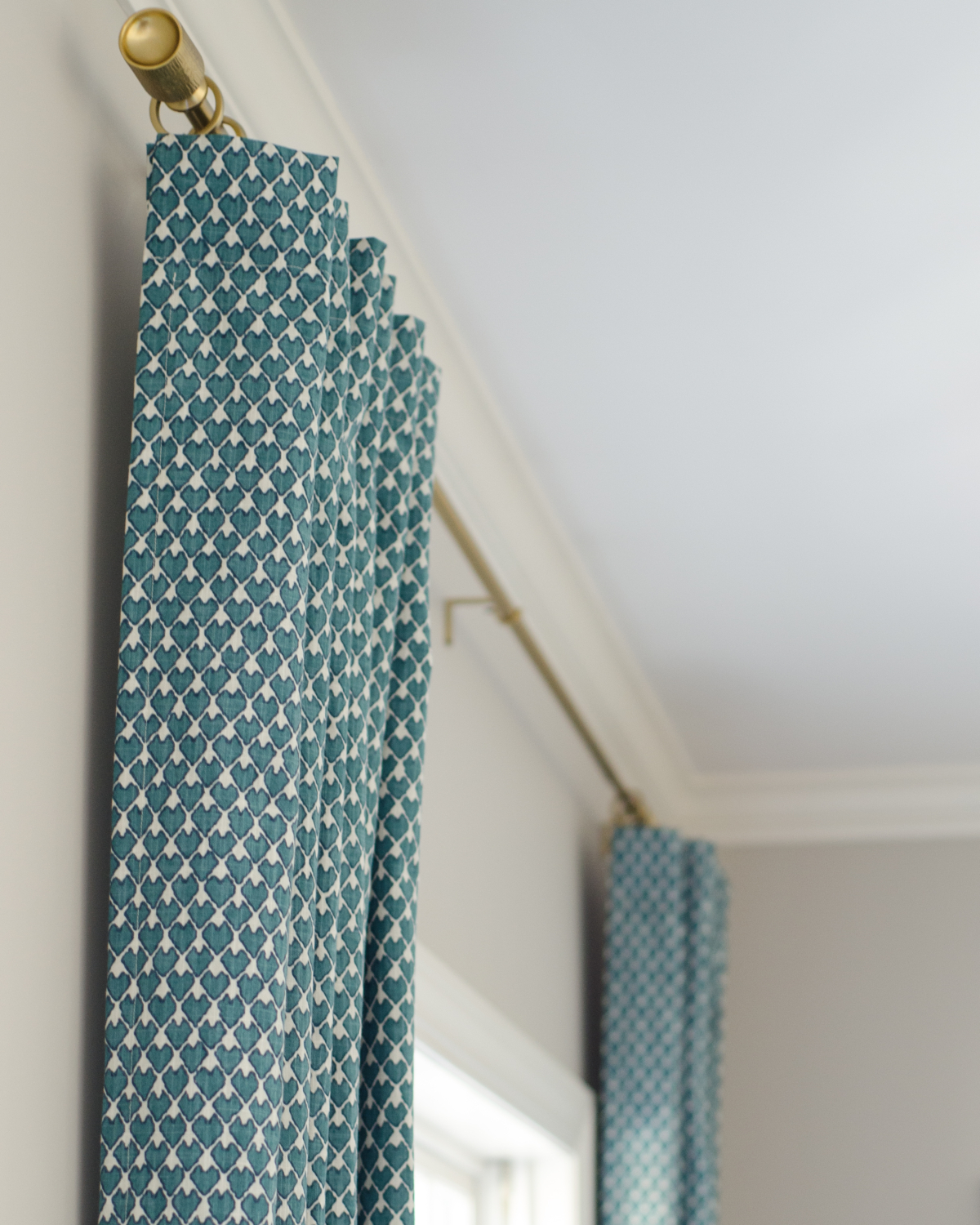 An easy-to-follow tutorial for how to sew curtains yourself. So simple and will save you TONS of money!